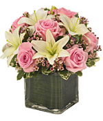 Pink Roses and Lilies
